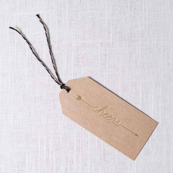 Arrow Cheers Tag Haute Papier - Cork Collection
