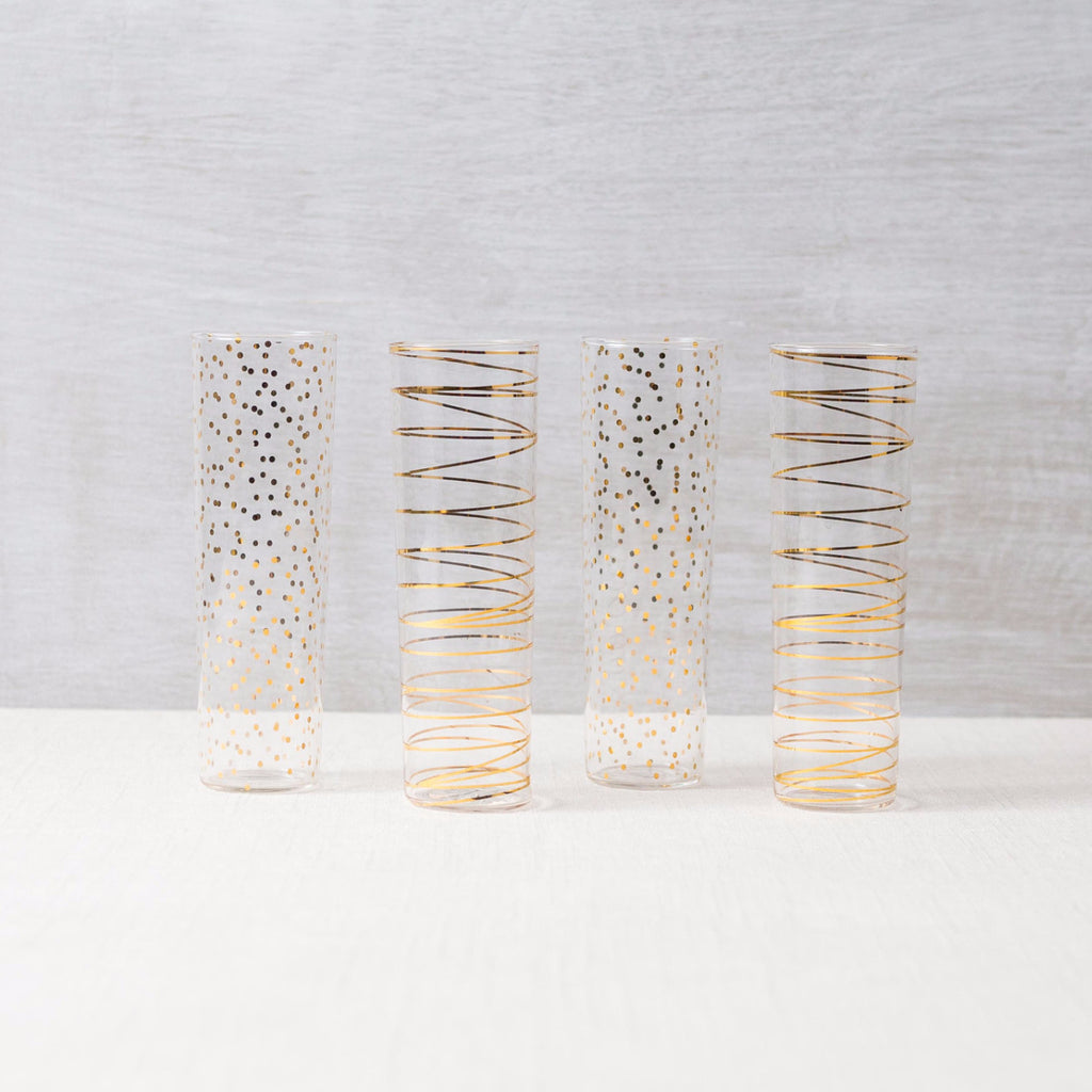 Luxe Modern Flutes (Set of 4) Rosanna - Cork Collection