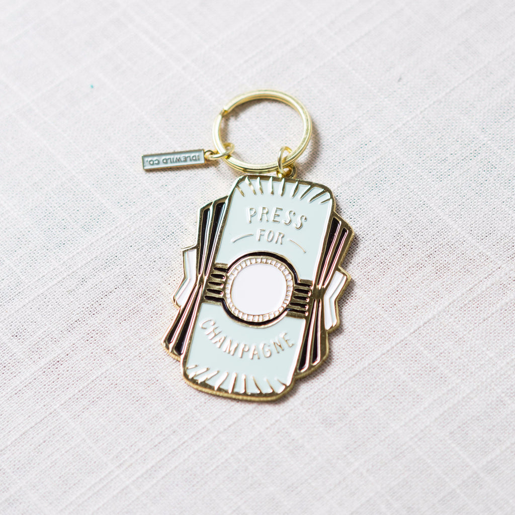 Press For Champagne Keychain