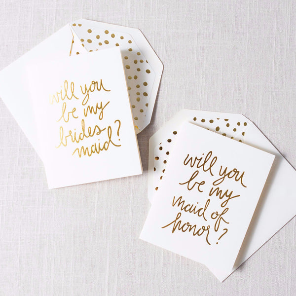 Gold Script Will You Be My... Card Sugarpaper - Cork Collection