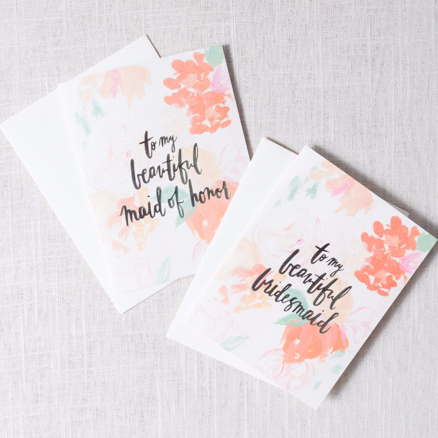 Floral To My Beautiful... Card Our Heiday - Cork Collection