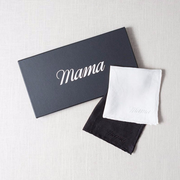 Mama Embroidered Handkerchief Sir/Madam - Cork Collection