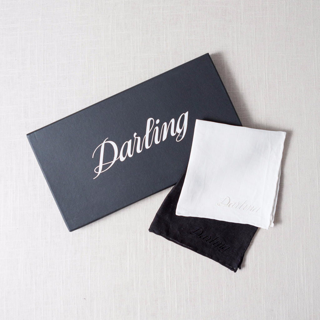 Darling Embroidered Handkerchief Sir/Madam - Cork Collection