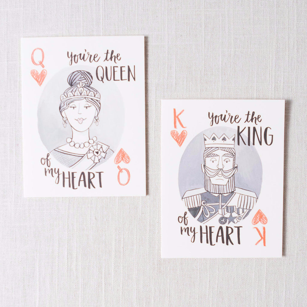 King/Queen of My Heart Card 1canoe2 - Cork Collection