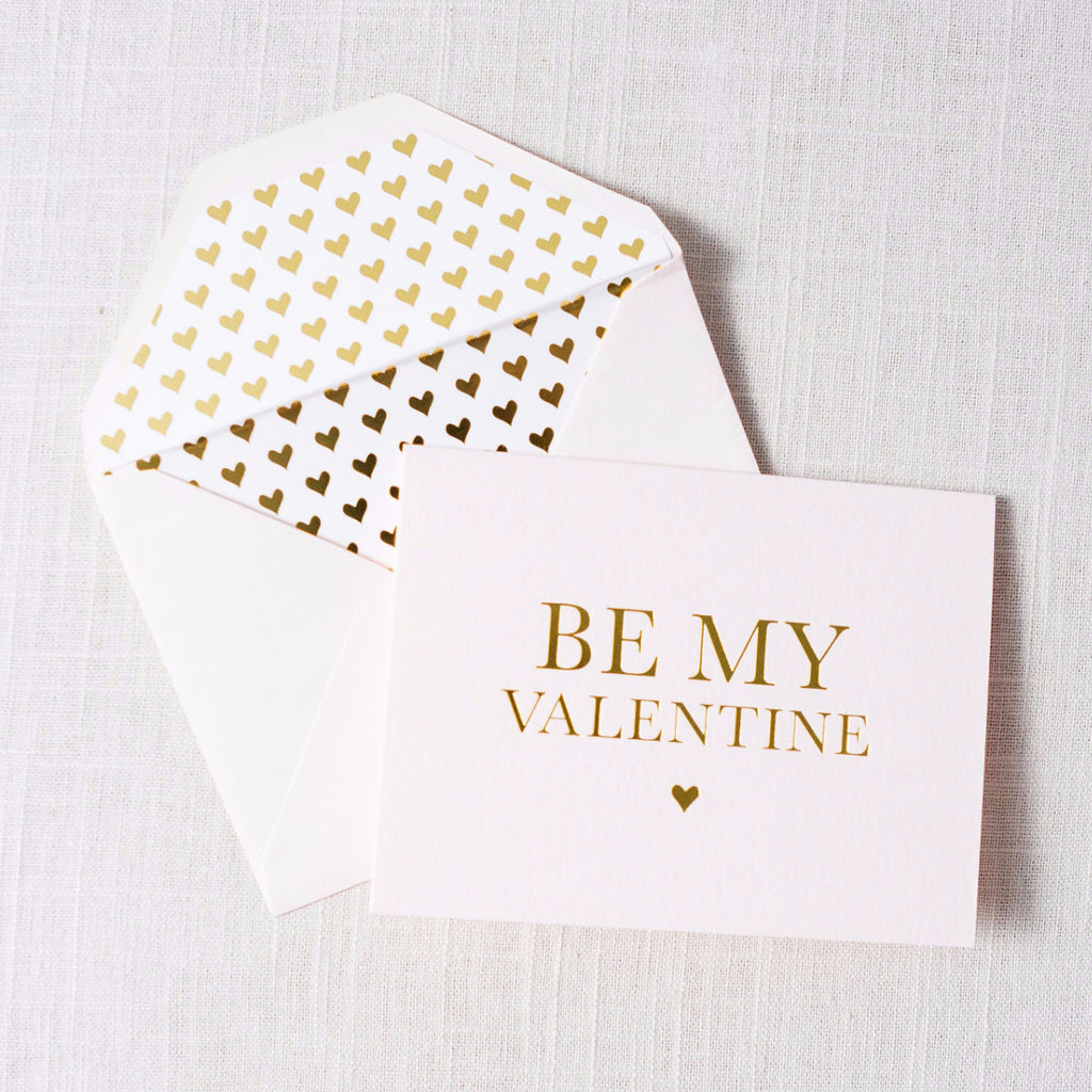 Be My Valentine Heart Card Sugarpaper - Cork Collection