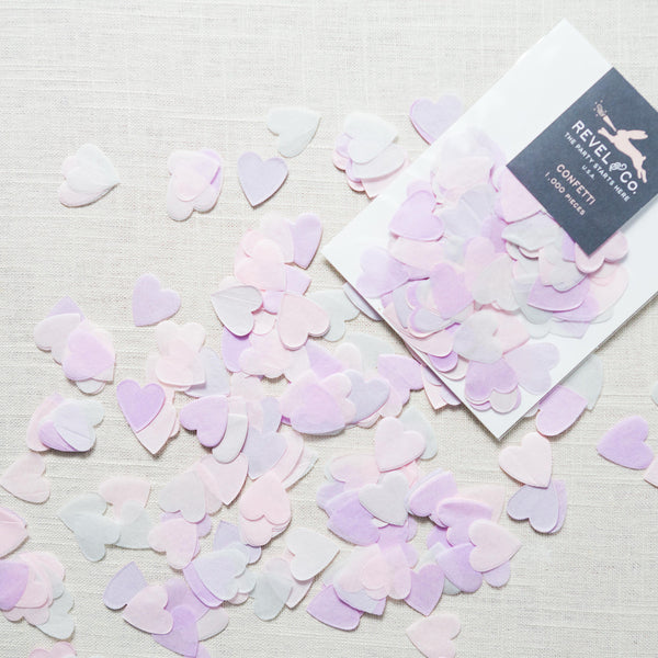 Pink Heart Confetti Revel & Co - Cork Collection