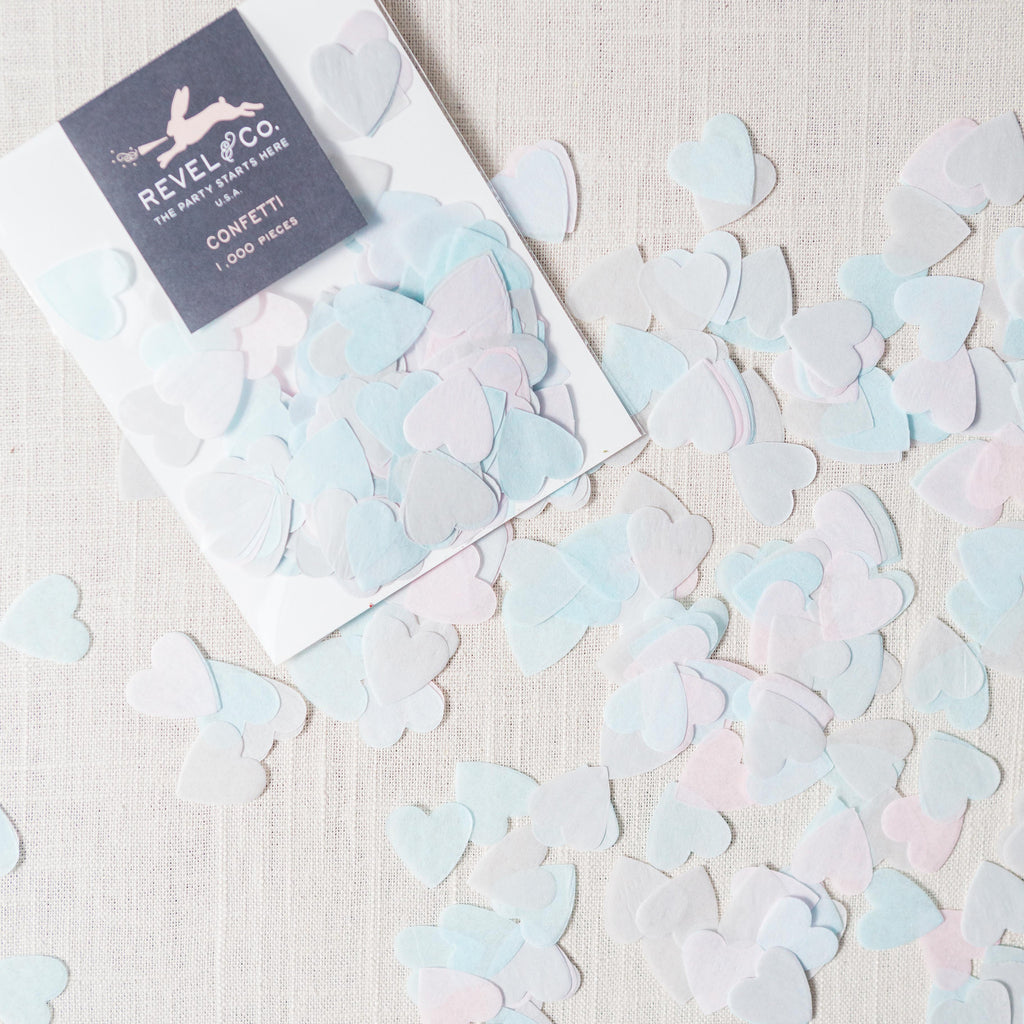Blue Heart Confetti Revel & Co - Cork Collection