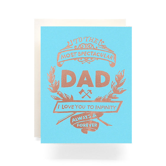Fathers Day Crest Greeting Card Antiquaria - Cork Collection