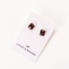 Everlyn Boxed Post Earring - Amethyst