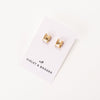 Everlyn Boxed Post Earring - Golden Shadow