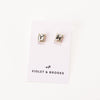 Everlyn Boxed Post Earring - Silver Shade