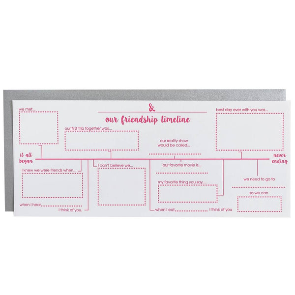 Friendship Timeline Card By Chez Gagne Chez Gagne - Cork Collection