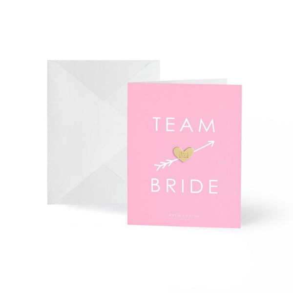 Team Bride Gold Badge Greeting Card