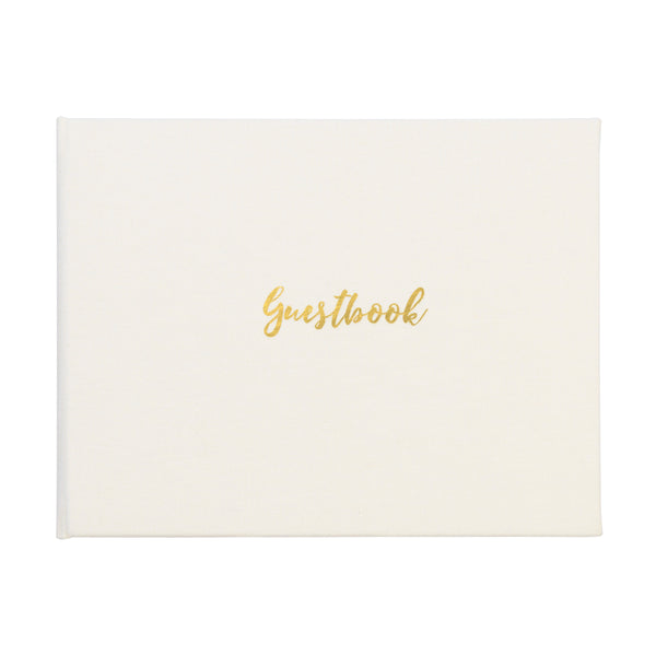 Classic Guestbook - Winter White
