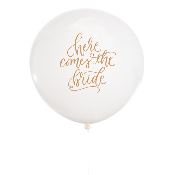 Here Comes The Bride Balloon Studio Pep - Cork Collection