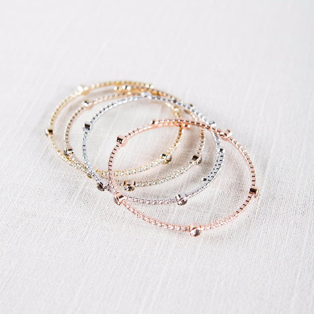Studded Bangle Bracelet Theia - Cork Collection