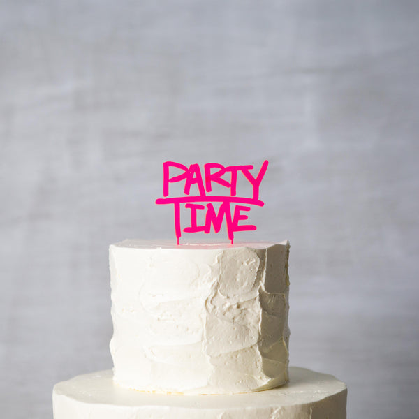 Party Time Cake Topper