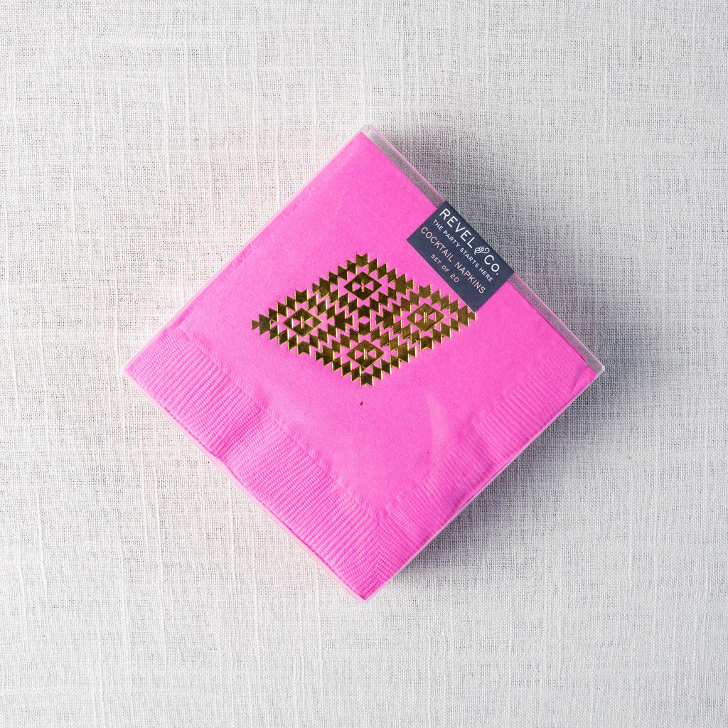 Tribal Diamonds Cocktail Napkins