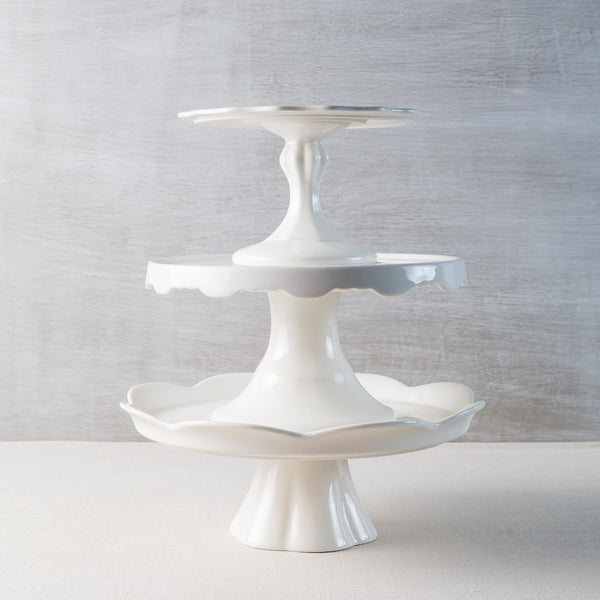 White Pedestal Cake Plate Rosanna - Cork Collection