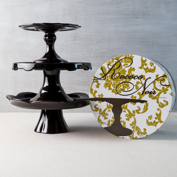 Black Pedestal Cake Plate Rosanna - Cork Collection