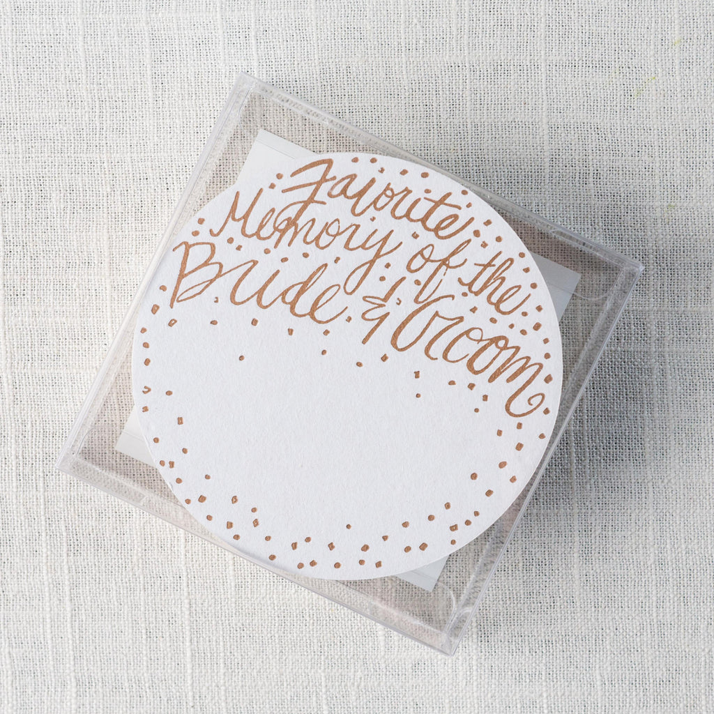 Memory of Bride & Groom Fill-in Letterpress Coasters Thimblepress - Cork Collection