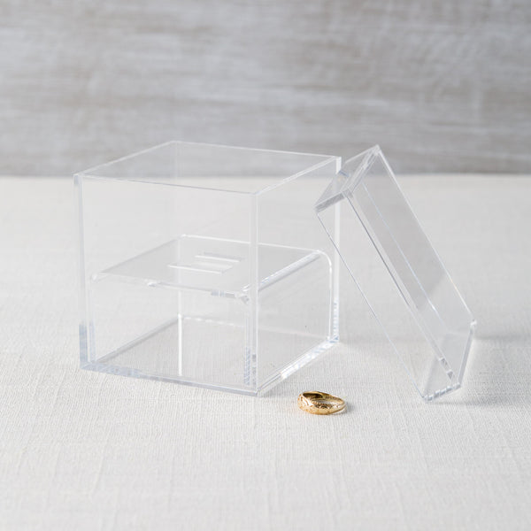 Acrylic Wedding Ring Box Weddingstar - Cork Collection