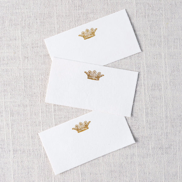 Printed Crown Paper Card