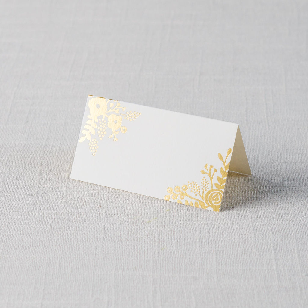 Gold Lace Place Cards Rifle Paper Co. - Cork Collection