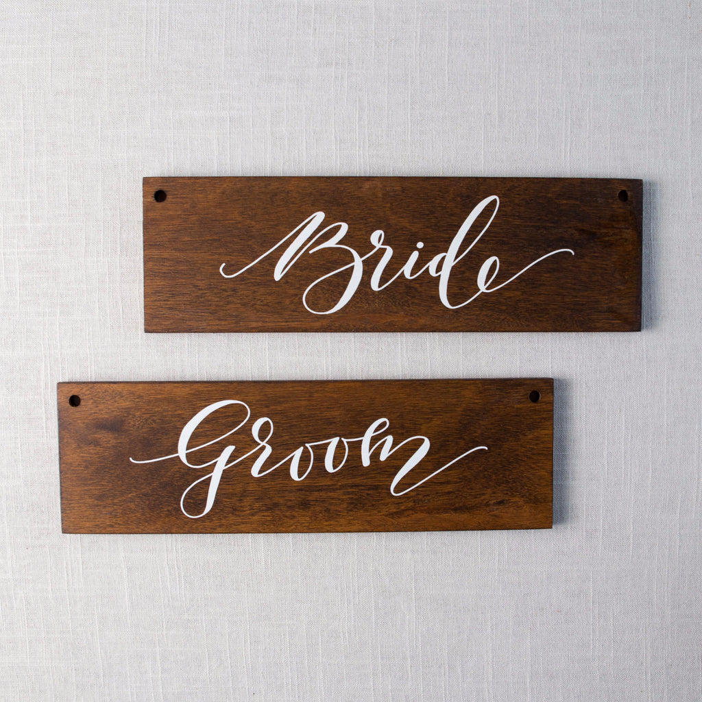 Bride & Groom Signs