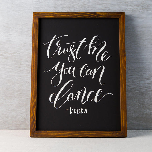 You Can Dance Chalkboard
