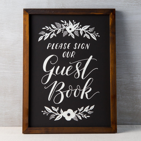 Guest Book Chalkboard Fox & Fallow - Cork Collection