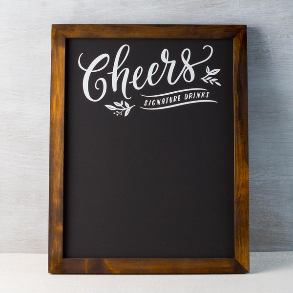 Cheers Chalkboard Fox & Fallow - Cork Collection