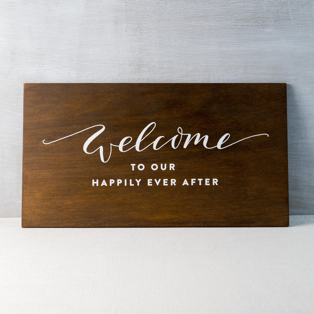 Happily Ever After Sign Fox & Fallow - Cork Collection