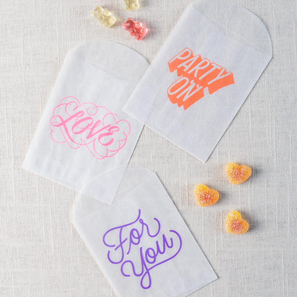 Treat Bags with Messages