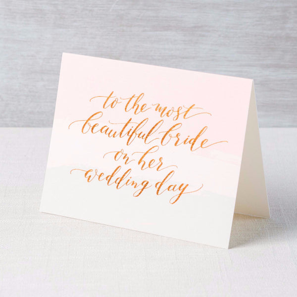 Beautiful Bride Card Fox & Fallow - Cork Collection