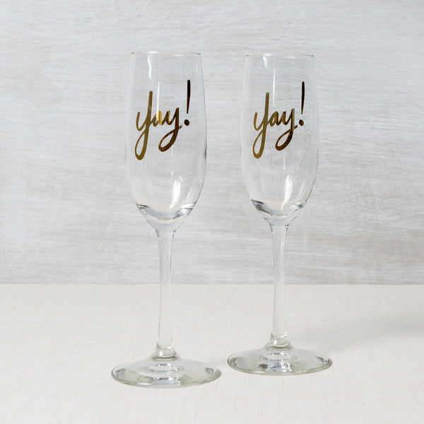 Yay Champagne Flute Easy Tiger Co. - Cork Collection