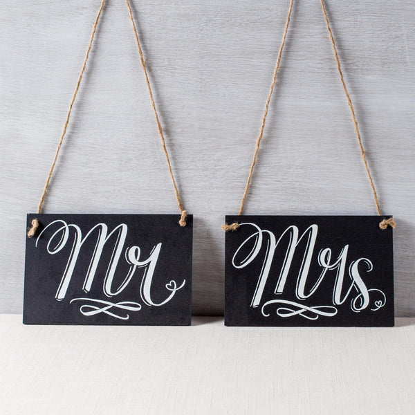 Mr & Mrs Chalkboard Signs