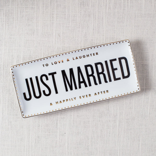 Just Married Tray