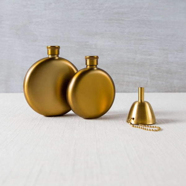 Gold Flask & Funnel Izola - Cork Collection