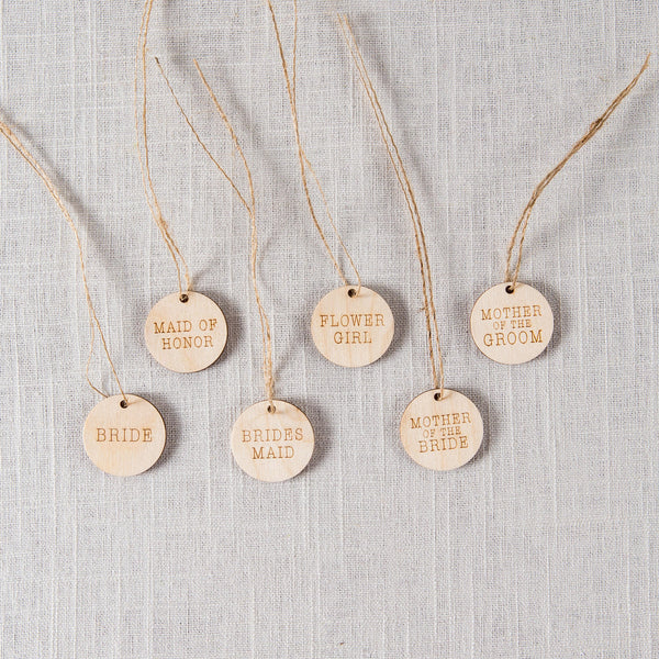 Wooden Bouquet Charms