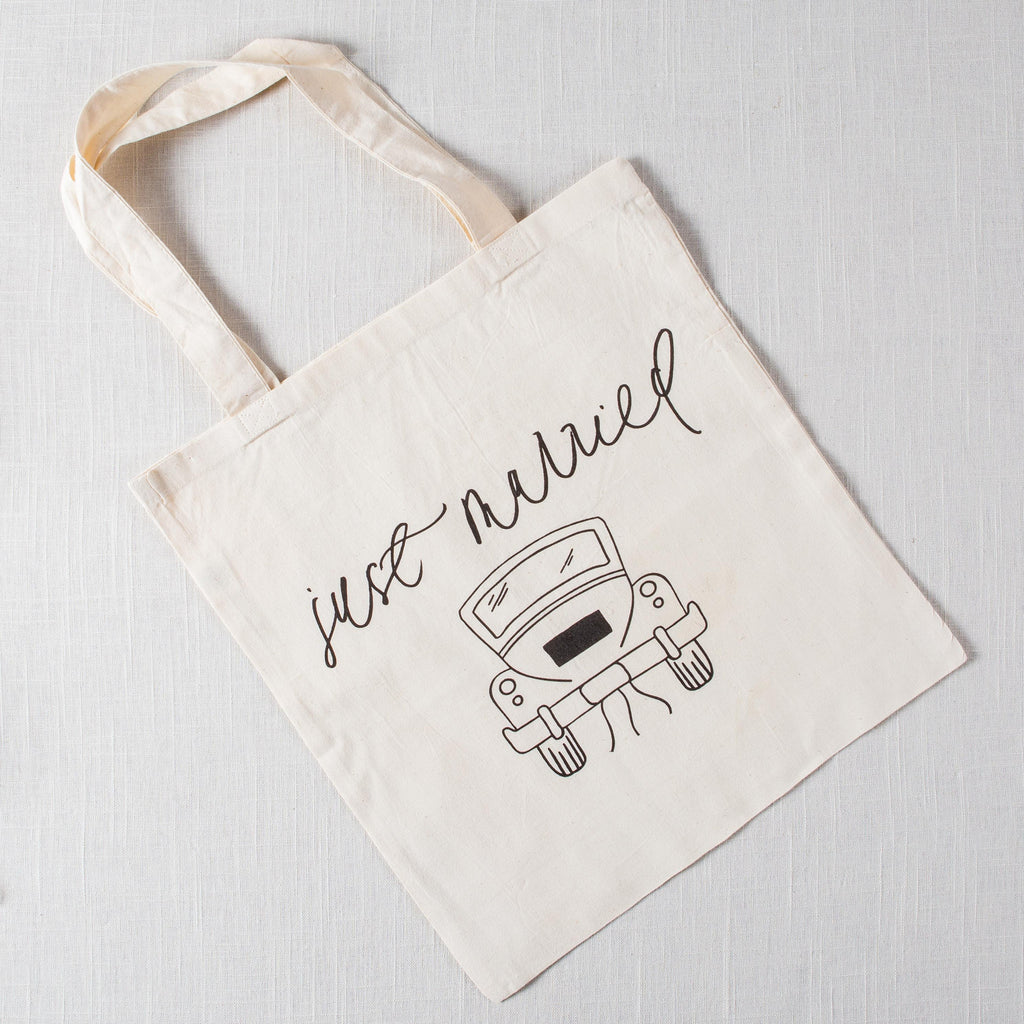 Just Married Tote Bag PCB Home - Cork Collection