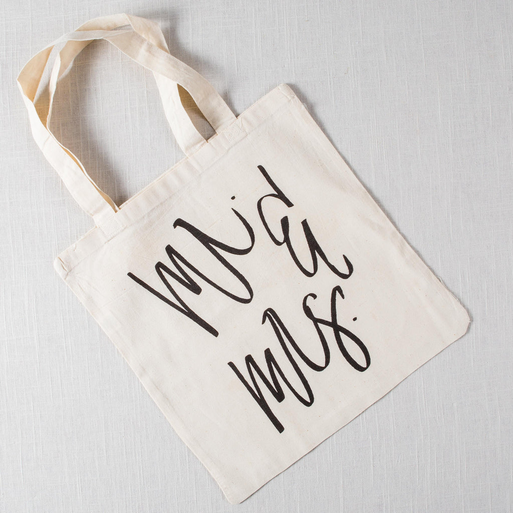 Mr & Mrs Tote Bag