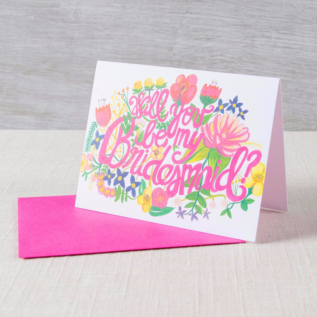 Will You Be My Bridesmaid? Floral Card