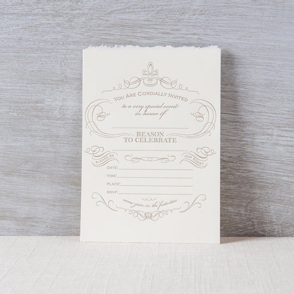 Reason to Celebrate Fill-In Invitation Oblation Papers & Press - Cork Collection