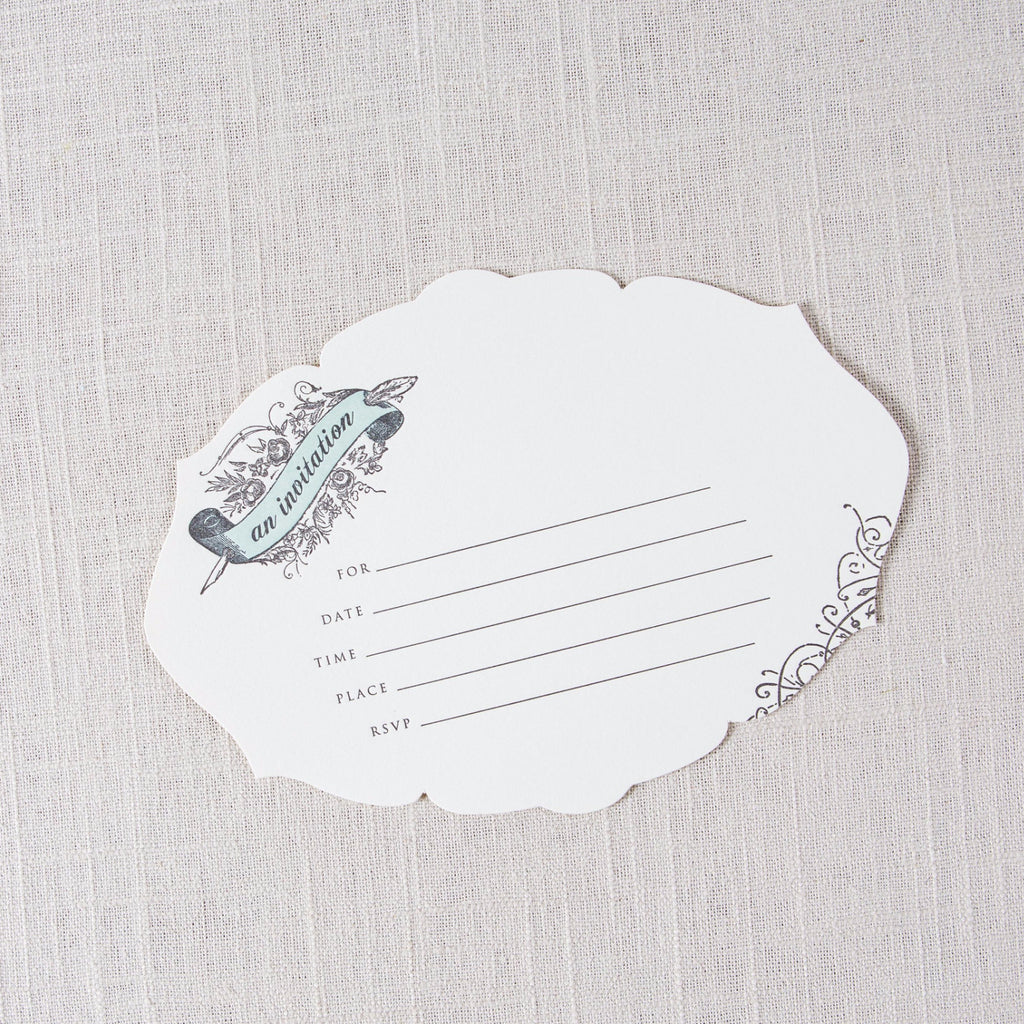 Cut Out Fill In Invitations Oblation Papers & Press - Cork Collection
