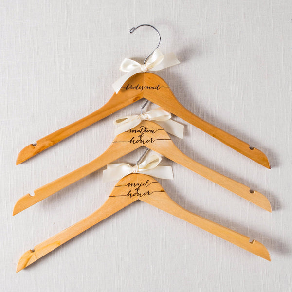 Bridal Party Wooden Hanger