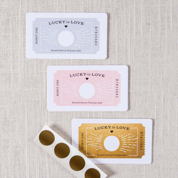 Scratch Off Ticket Place Cards Inklings - Cork Collection