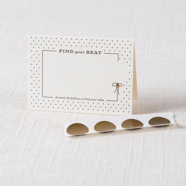 Scratch Off Balloon Tent Cards Inklings - Cork Collection