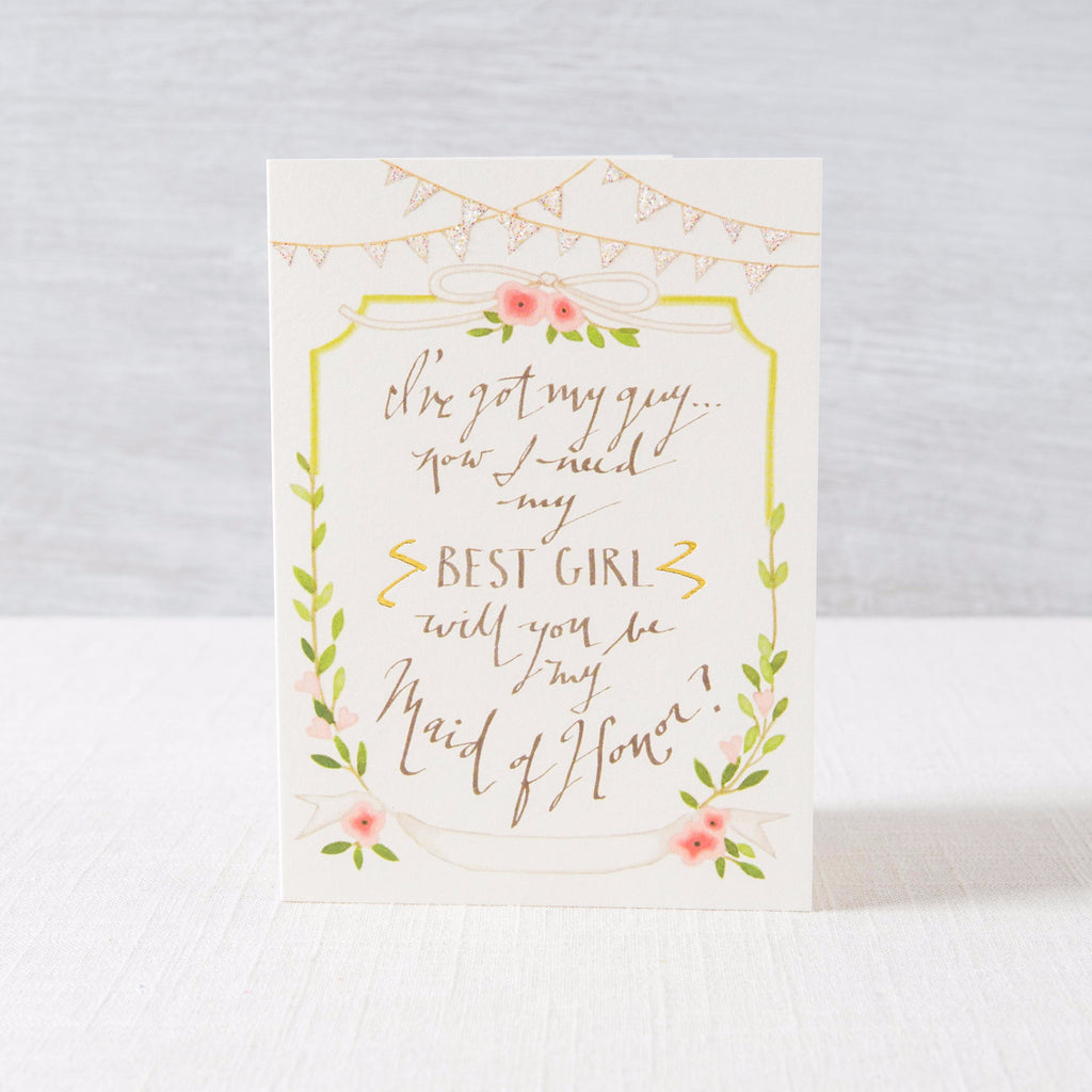 Maid of Honor Greeting Card Karen Adams Designs - Cork Collection