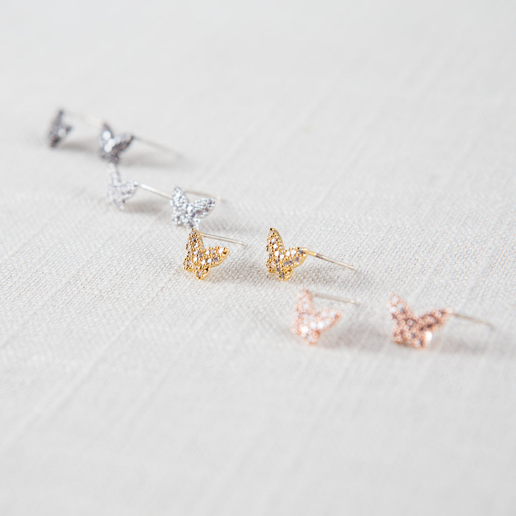 Papillion Stud Earrings
